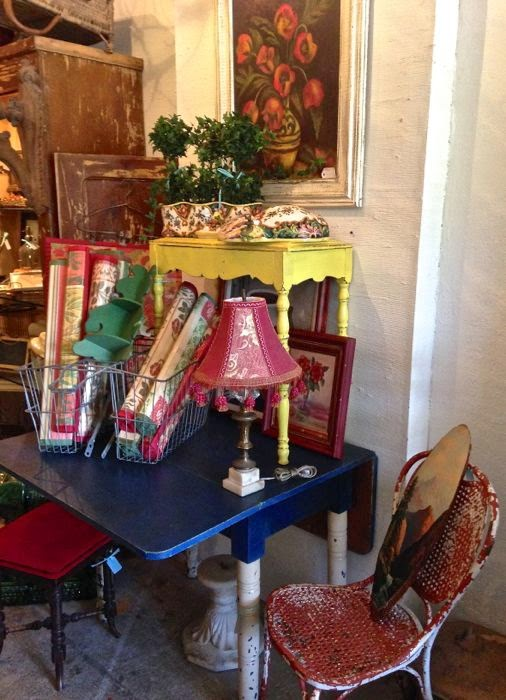 Vintage vignette at The Pickled Hutch