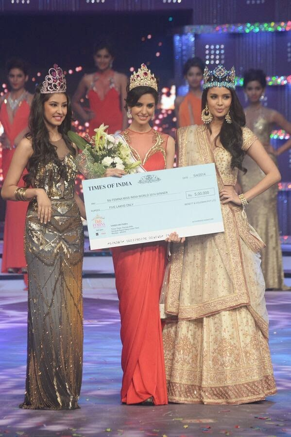 Koyal Rana crowned fbb Femina Miss India 2014
