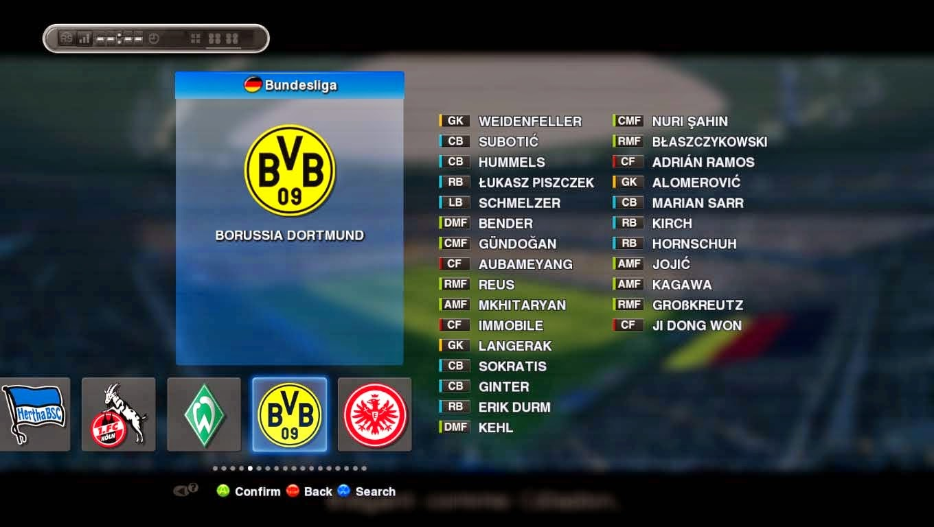 Option File PES 2013 untuk SUN Patch 4.0 Update 11 September 2014
