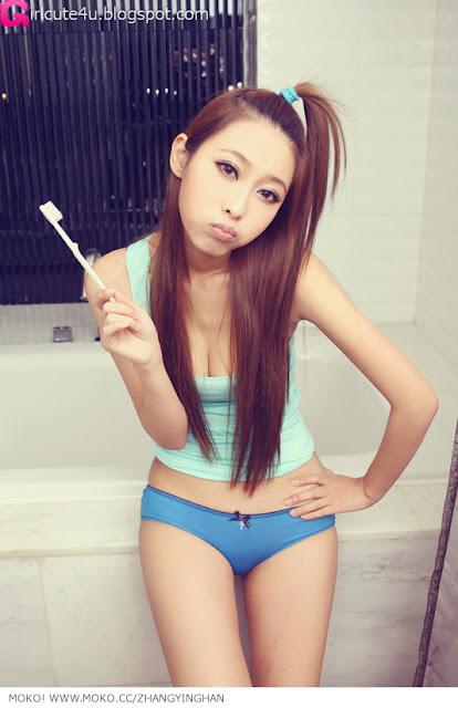 5 Zhang Yinghan - Bathroom-very cute asian girl-girlcute4u.blogspot.com