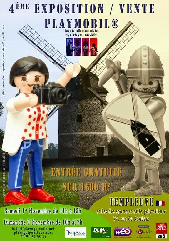 Expo-Vente Playmobil Templeuve, 1er et 2 novembre 2014