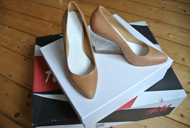 Maison Martin Margiela x H&M plexi heels beige