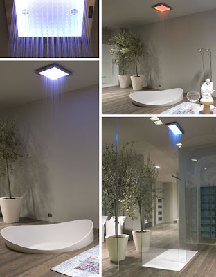 modern shower and basin lighting for bathroom decorating ideas