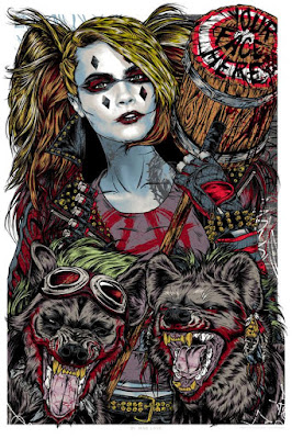 "New York Comic Con 2015 Exclusive DC Comics Harley Quinn ""Dr. Mad Love"" Screen Print by Rhys Cooper & Bottleneck Gallery"