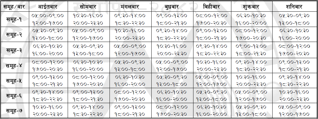 New Load Shedding Schedule Nea Load Shedding Schedule