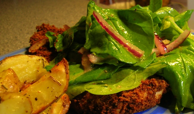 ... From Alice's Kitchen: Chicken Milanese with Arugula or Spinach Salad