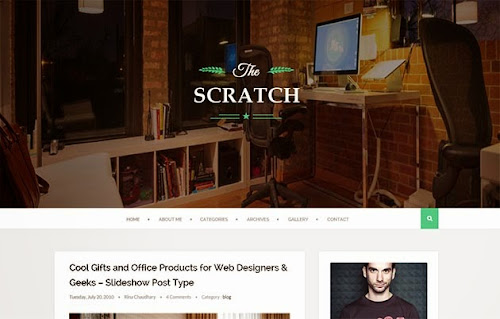 Template Scratch Para Blog de Noticias