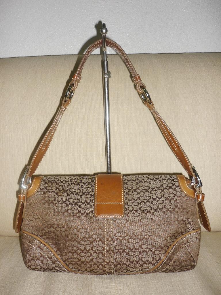 Yus Branded Bag Authentic Coach Leather Brown Handbag 6