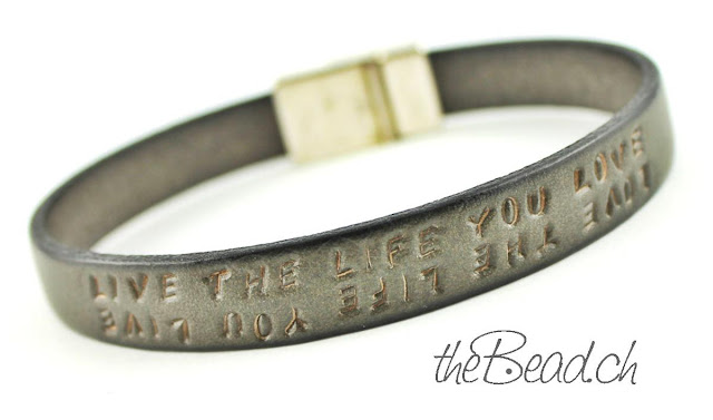 Lederarmband LIVE THE LIFE YOU LOVE, LOVE THE LIFE YOU LIVE