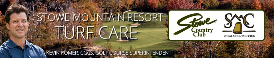 Stowe Mountain and Country Club Turf Blog