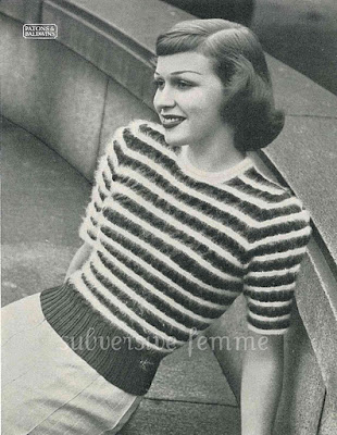 1950's Knitting - Angora Sweater Tristan