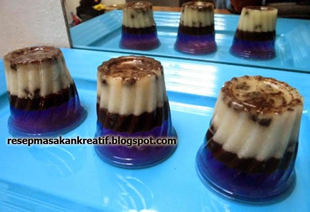 Cara Membuat Puding Oreo Lapis Jelly