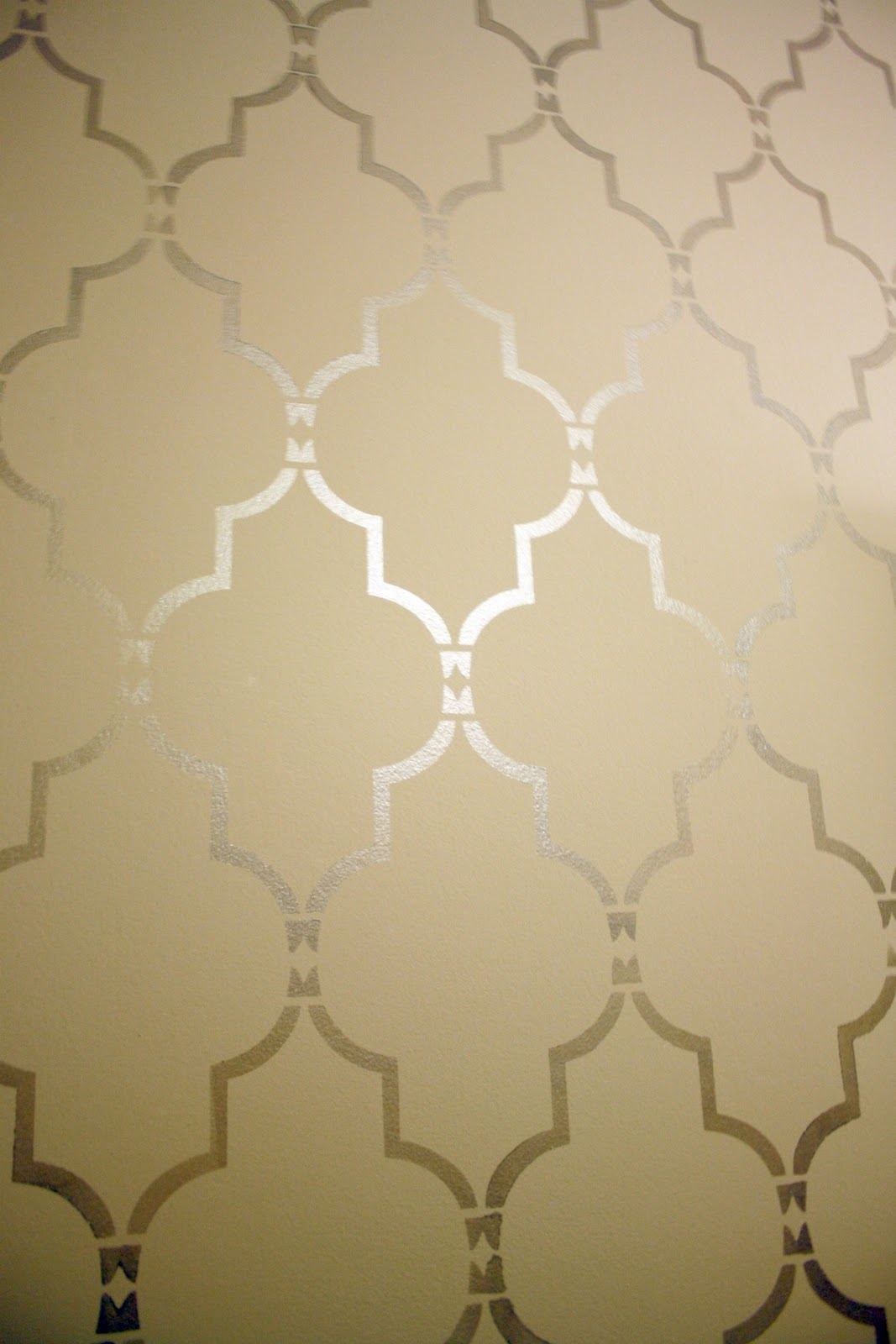 Sweet shimmery goodness i 39 m in love crazy wonderful - Wall painting stencils for living room ...