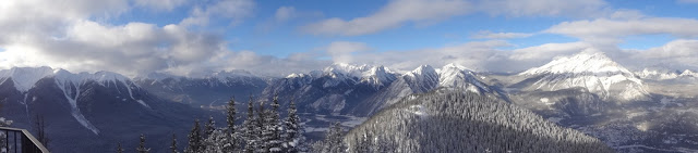 sulphur mountain summit view