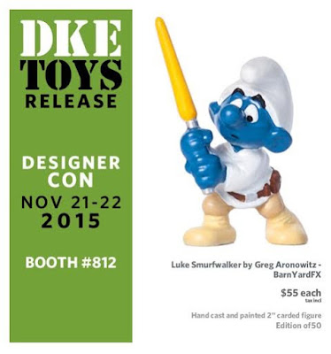 "Designer Con 2015 Exclusive Star Wars x The Smurfs ""Star Smurfs"" Resin Figures by BarndYardFX - Luke Smurfwalker"