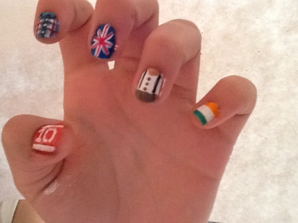 British Flag One Direction Nails