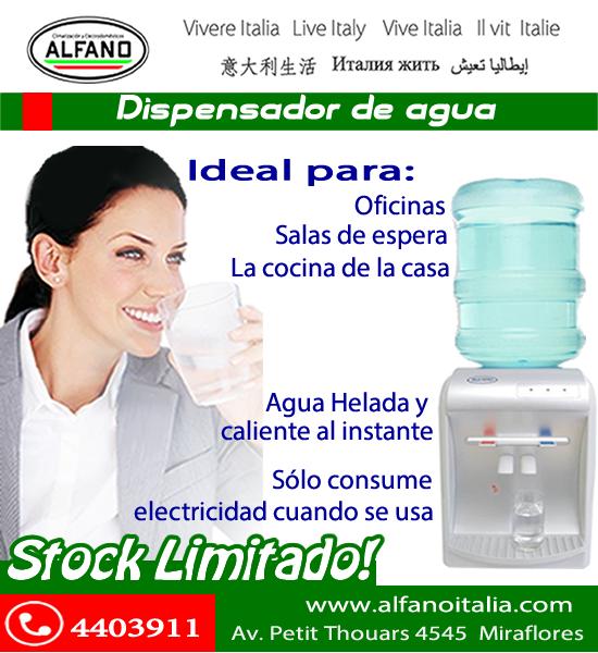 Termas estufas en lima alfano dispensador de agua alfano for Dispensador agua oficina