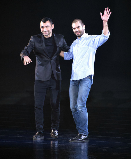 Nicola Formichetti at Mugler's Fall 2013 presentations
