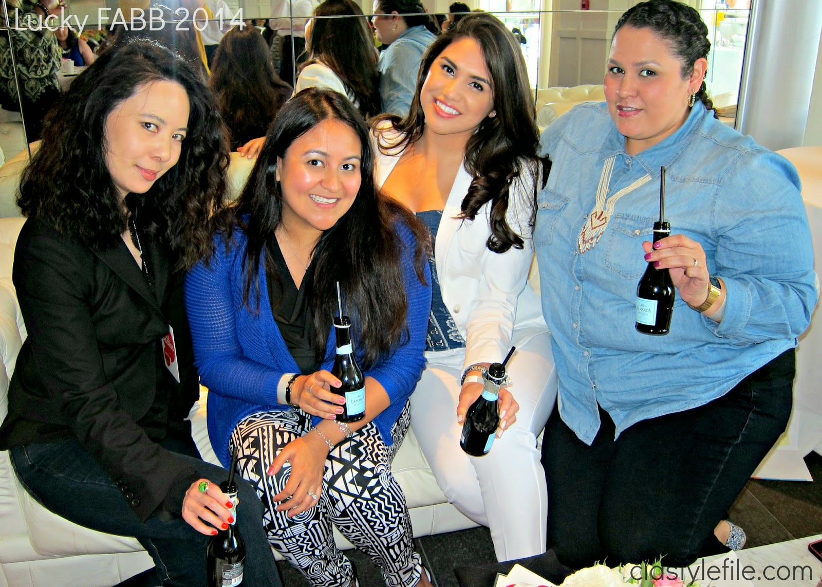 fashion blogges, latina bloggers, #luckyfabb, miss me jeans, lucky magazine, blogger conference, sls hotel, champagne, sparkling wine, #wecute