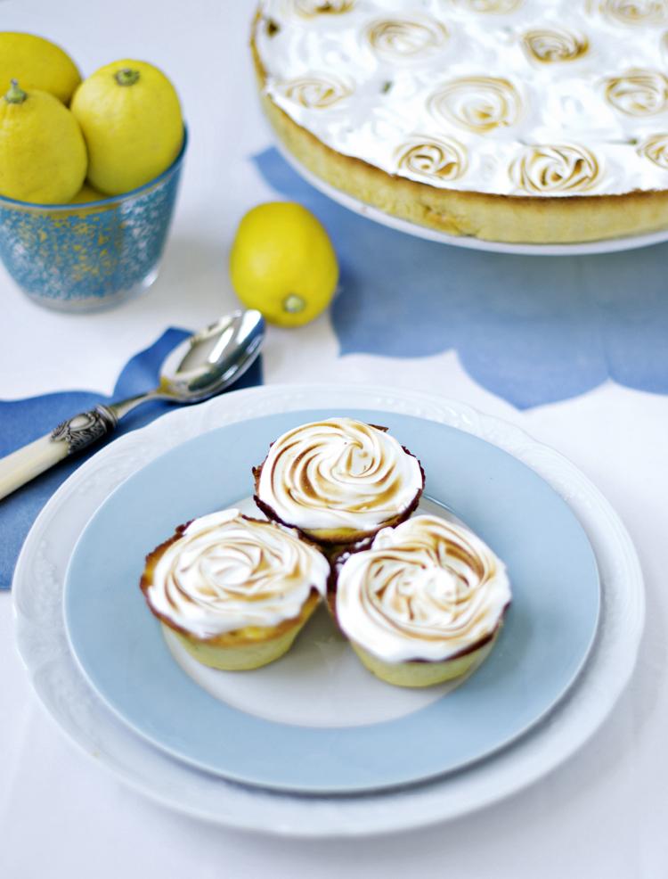 receta de pastel de limón y merengue