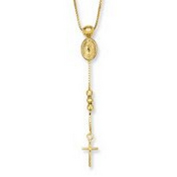 gold rosary necklaces