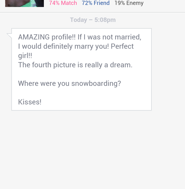 Perfect dating site message