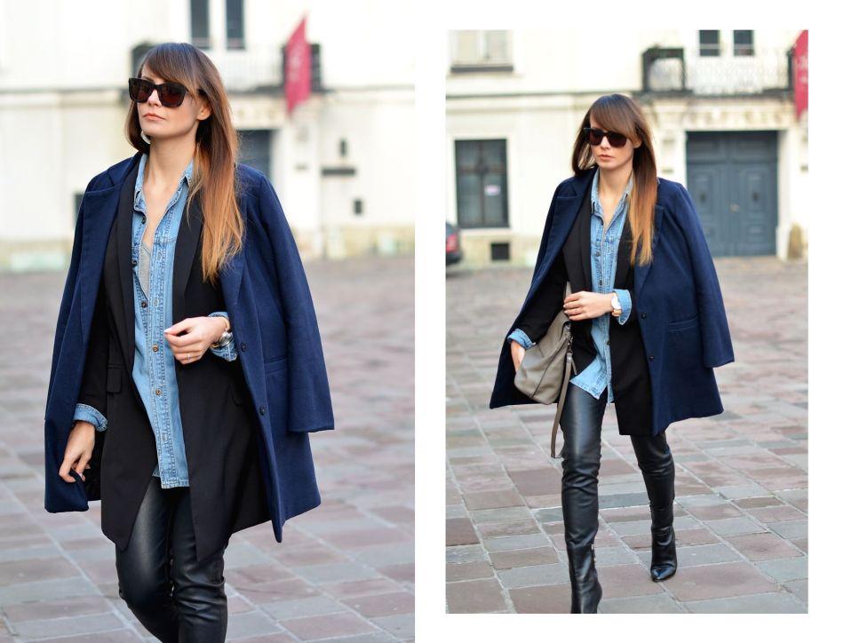 blogi o modzie | blogi modowe | blogerka modowa | blog o modzie | cammy | kamila mraz | granatowy plaszcz | torebka ecco