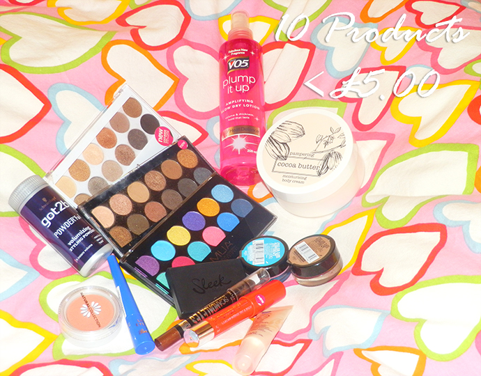 10 Beauty Products Under £5.00