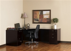 Mira Series Wood Veneer Corner Desk