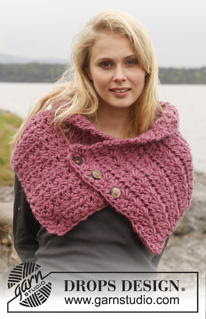 Free Crochet Pattern for A Beautiful Pink Neck Warmer