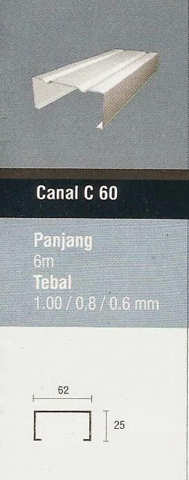 IGGI TRUSS CANAL C 60 - JUAL RANGKA ATAP BAJA RINGAN