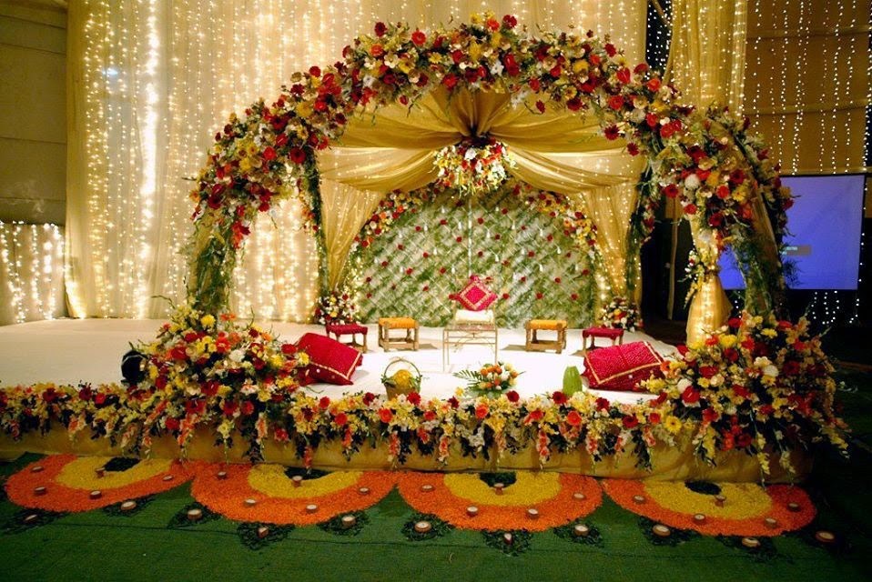 Welcome To Magic Bangla WEDDING STAGE DECORATION IDEAS