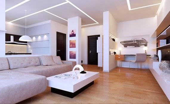 interior ruang tamu luas
