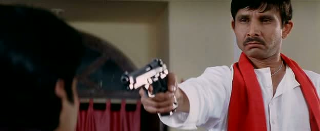 KRK (Kamal rashid Khan) with a shiny gun