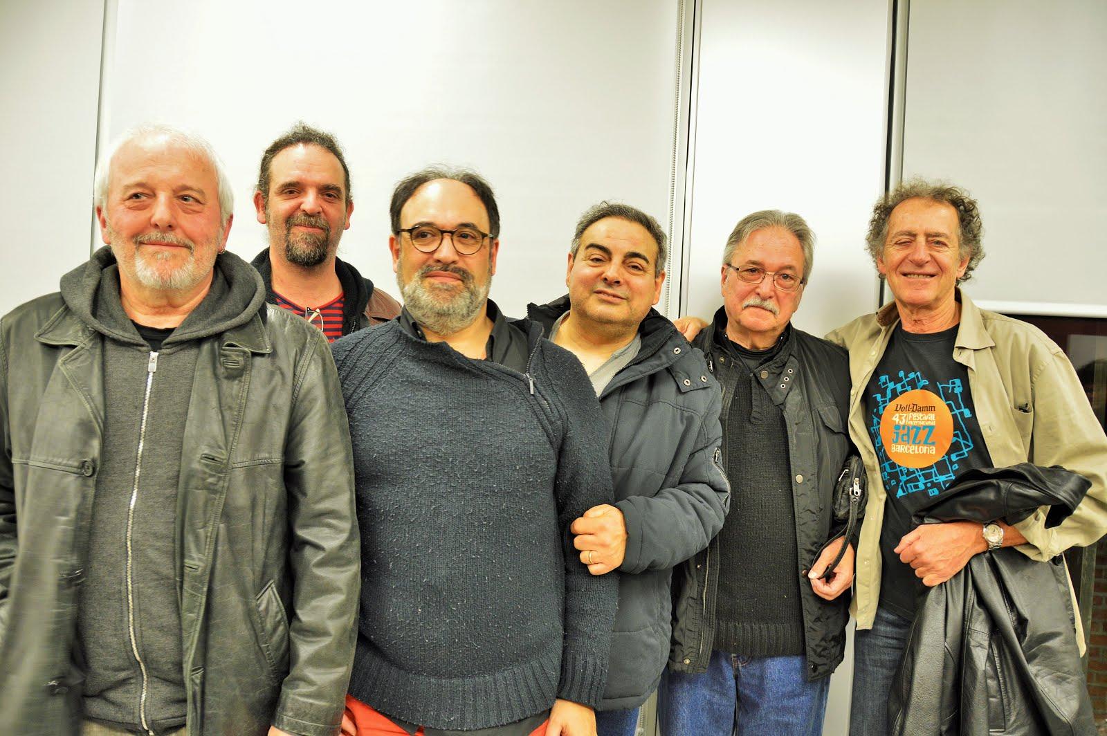 Amb Max Sunyer, Jordi Batiste, Jordi Sabatés, Jordi Gomara i Joan Casamor