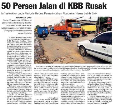 50 Persen Jalan di Bandung Barat Rusak