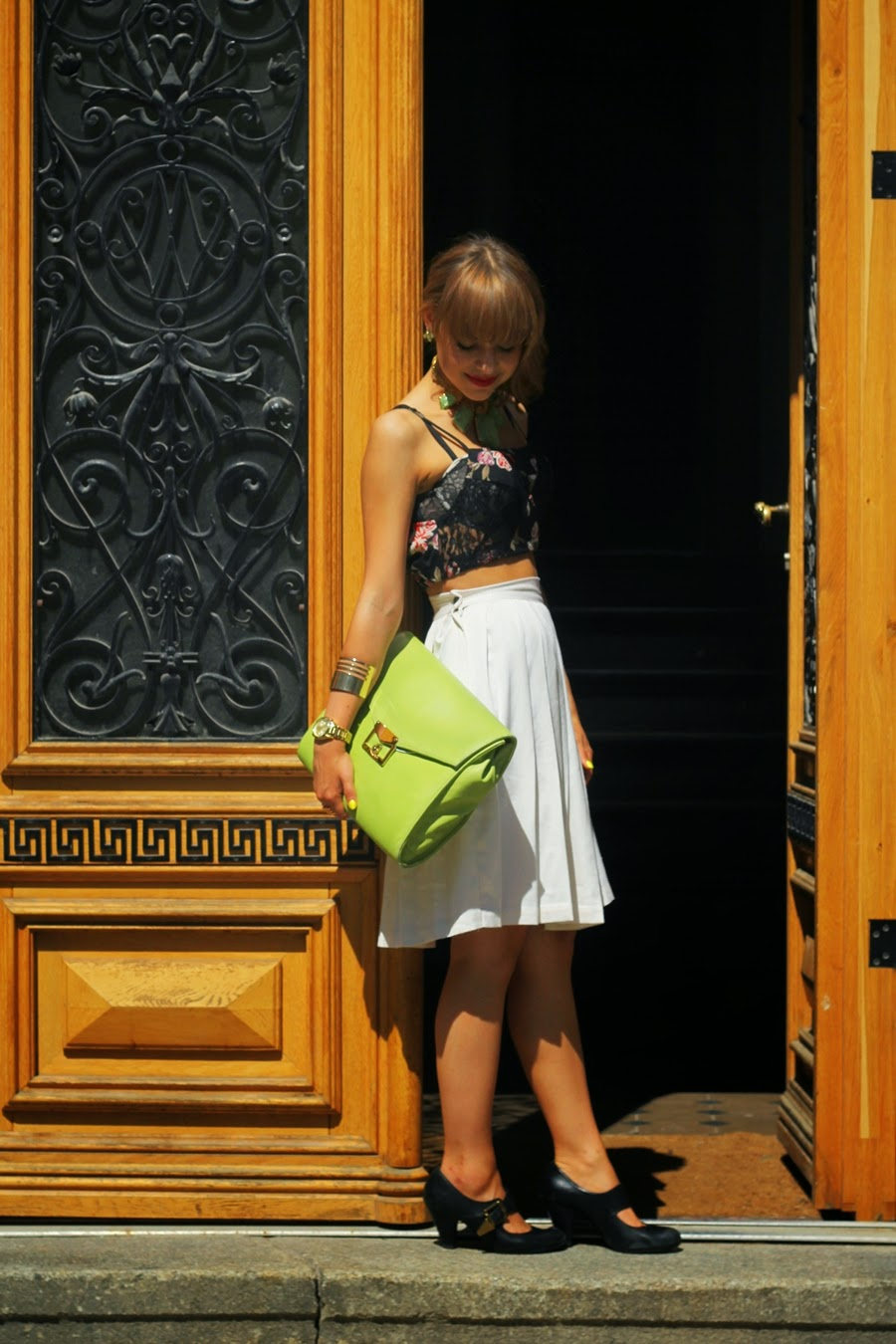 white skirt myberlinfashion outfitpost urban outfitters