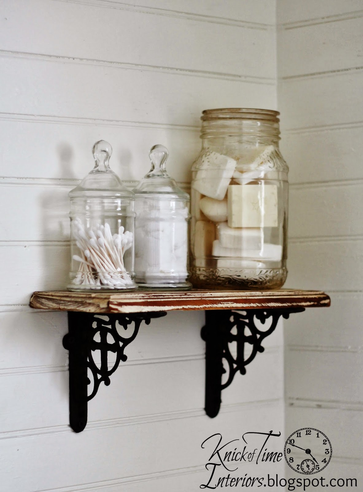 Apothecary-Jars-Farmhouse-Bathroom-Remodel-Knick of Time