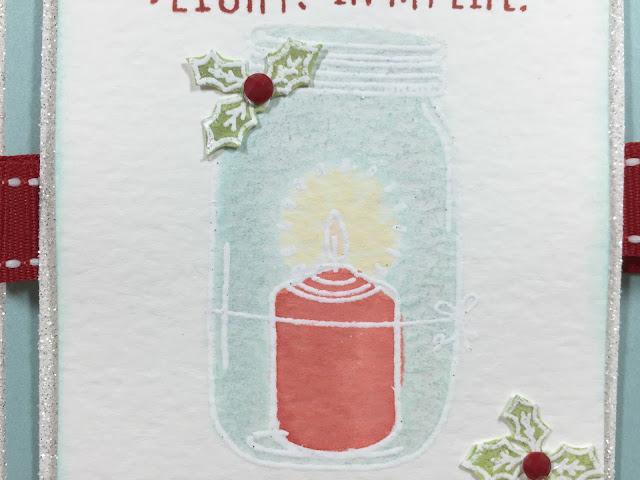 Christmas Greetings stamped card