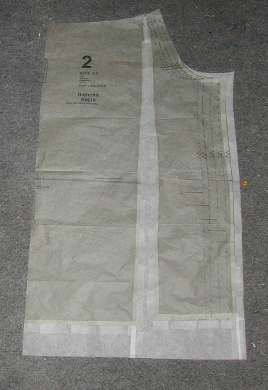 Butterick 5610: Pattern Alterations