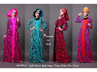 Dress Lebaran Stripe Dress Spandex Korea