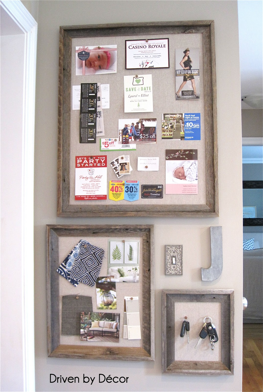 Diy restoration hardware bulletin board driven by decor for Kitchen cork board ideas