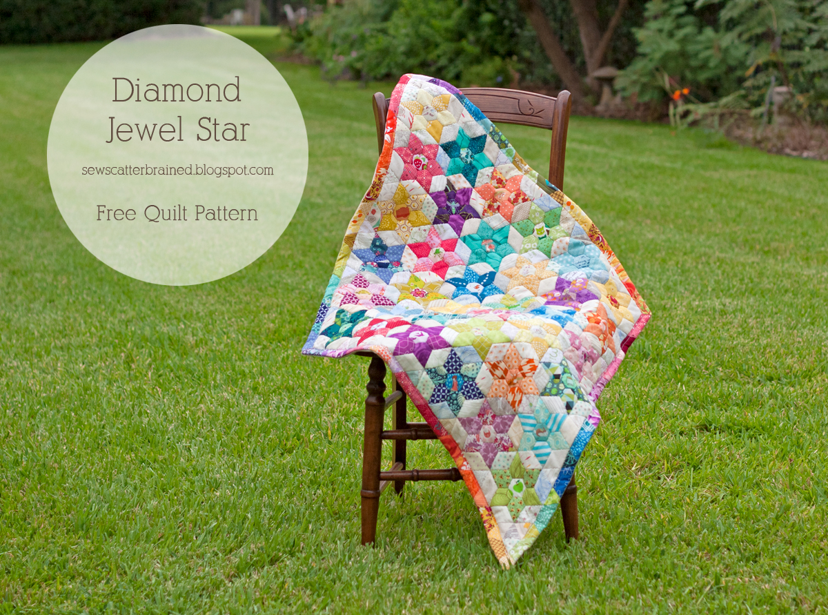 I am luna sol free quilt pattern diamond jewel star quilt sunday september 14 2014 maxwellsz
