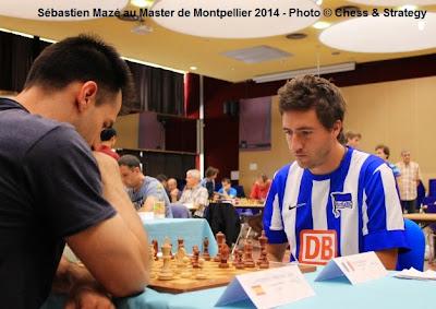 Le GMI Sébastien Mazé (2553) face au grand-maître espagnol de 38 ans, Julen Luis Arizmendi Martinez pour le compte de la ronde 8 - Photo © Chess & Strategy