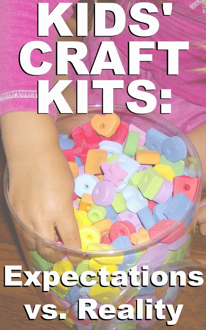 Kids' Craft Kits: Expectations vs. Reality by Robyn Welling @RobynHTV