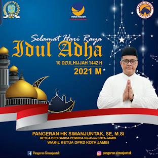 Saya Pangeran Simanjuntak/Wakil Ketua DPRD Kota Jambi dari Fraksi Nasdem