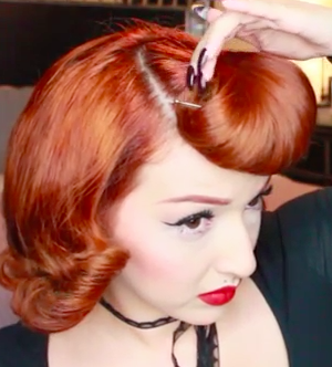 Retro Girl Pin Up Hair