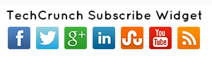 New TechCrunch Social Subscribe Widget For Blogger