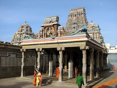 Lord Muruga shrine in kapaleeswarar temple