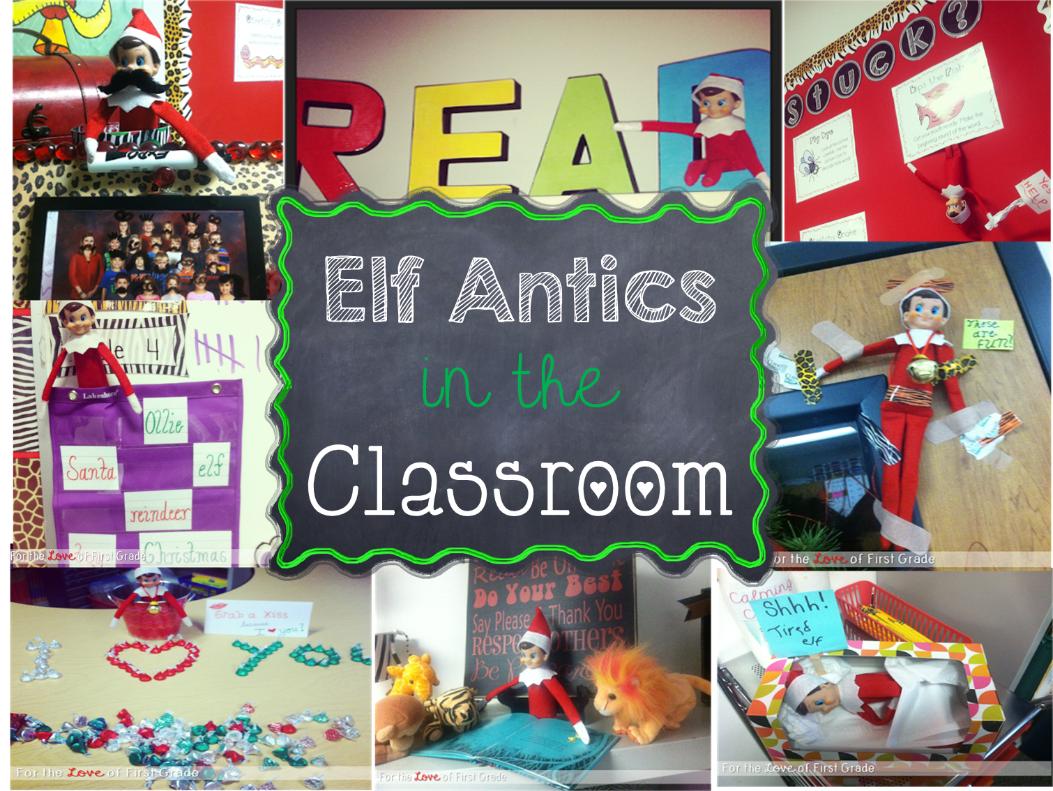 Classroom Elf Ideas ~ For the love of first grade elf antics and ideas your